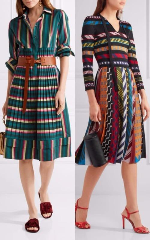 Rochia cu dungi colorate