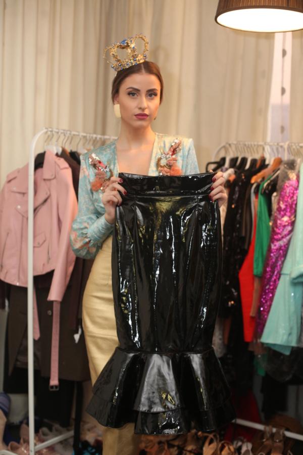 Iuliana a purtat multe piese din latex