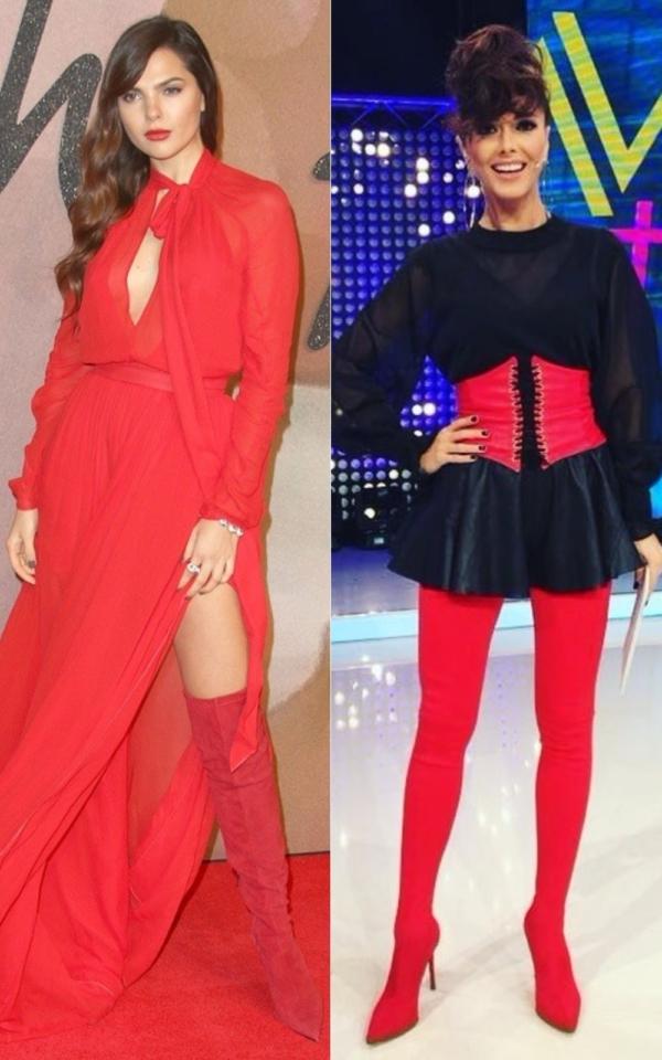 Obsesia vedetelor în sezonul rece: cizmele roșii, peste genunchi! Iată ce outfit-uri au afișat!