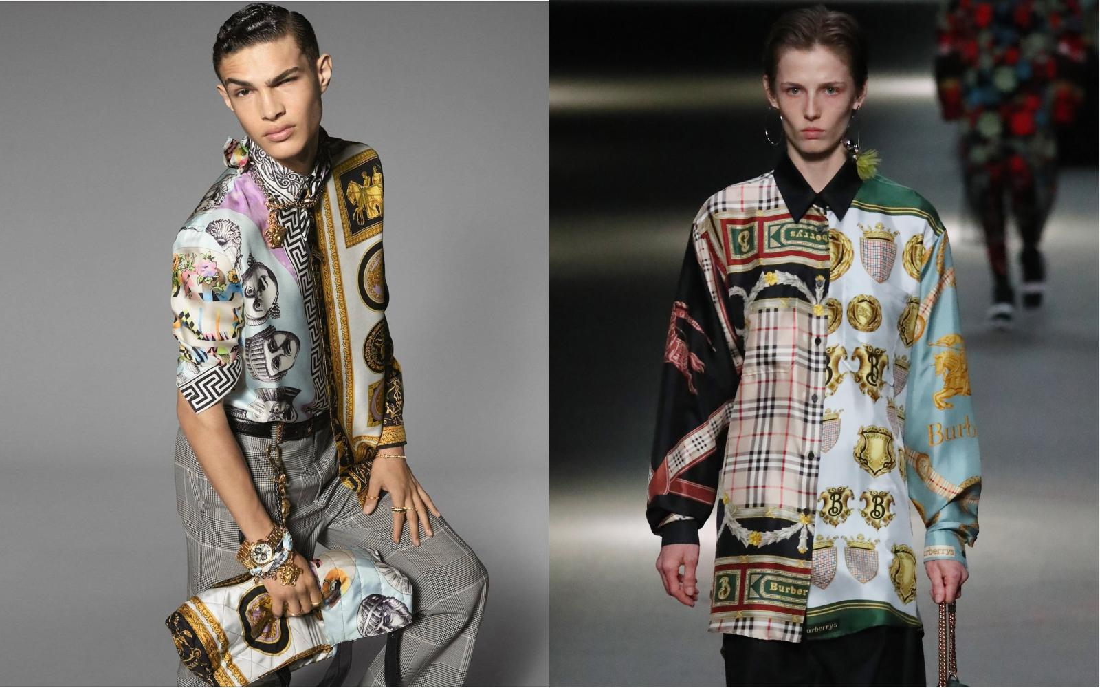 Ups! Observă diferențele: Versace vs. Burberry!